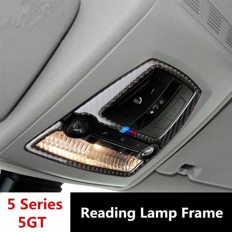 Carbon Fiber Car Roof Reading Lamp Frame Decoration Dome Light Trim ...