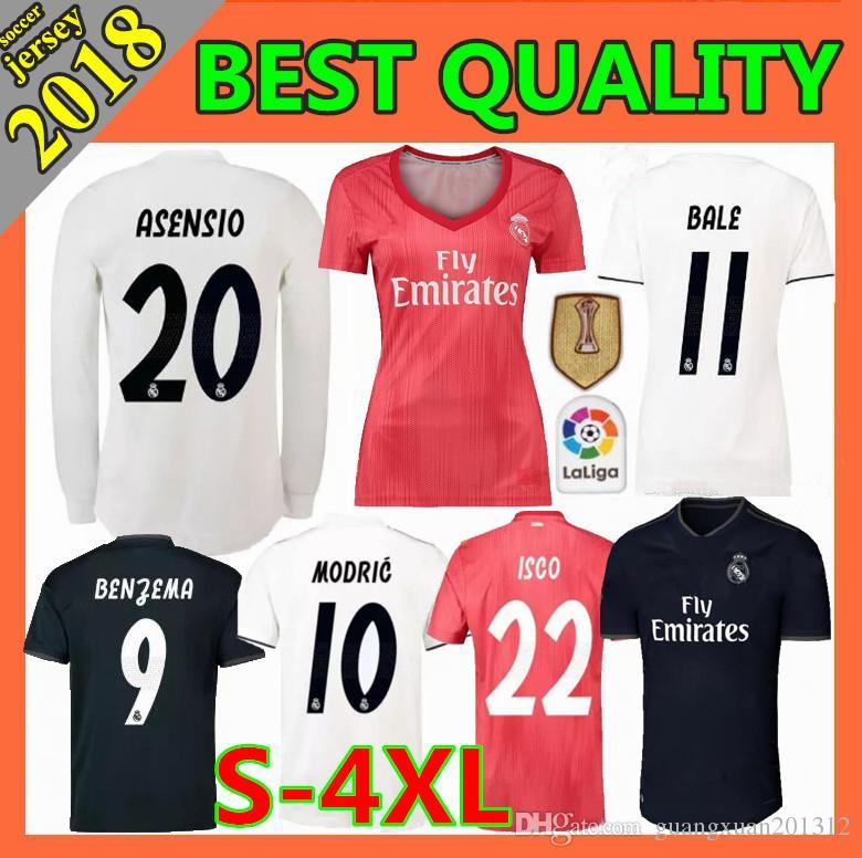 2019 Men Women 2018 2019 New Real Madrid Soccer Jersey 18 19 CR7 RONALDO  MODRIC ISCO RAMOS Asensio Kroos BALE Football Shirts Size S 4XL From ... 4e8e57730