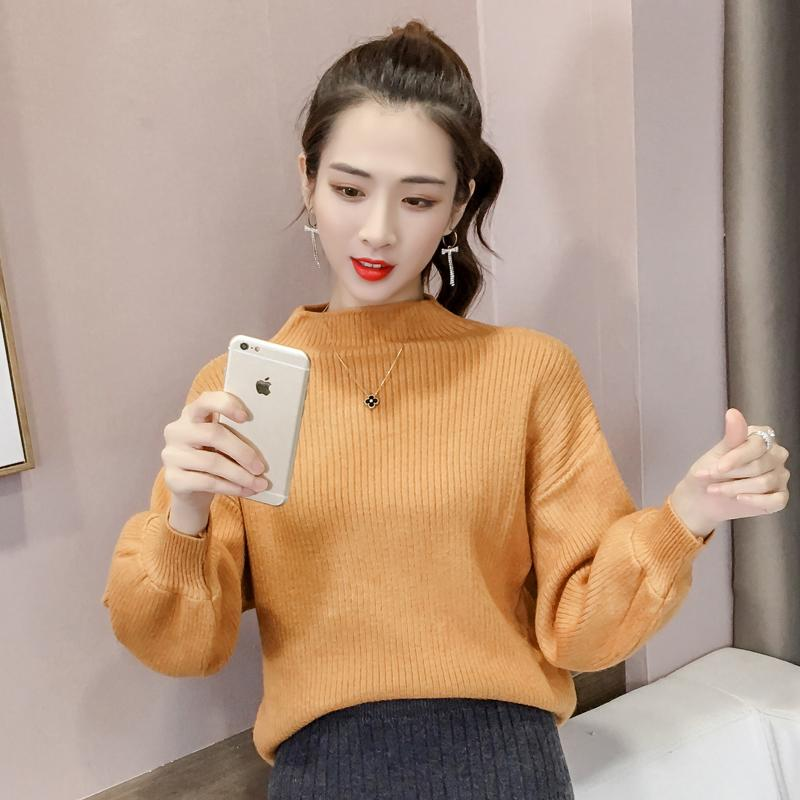 0b23545cae 2019 Women S Cashmere Elastic Autumn Winter Half Turtleneck Sweaters And Pullovers  Sweater Slim Tight Bottoming Knitted Pullover From Balsamor