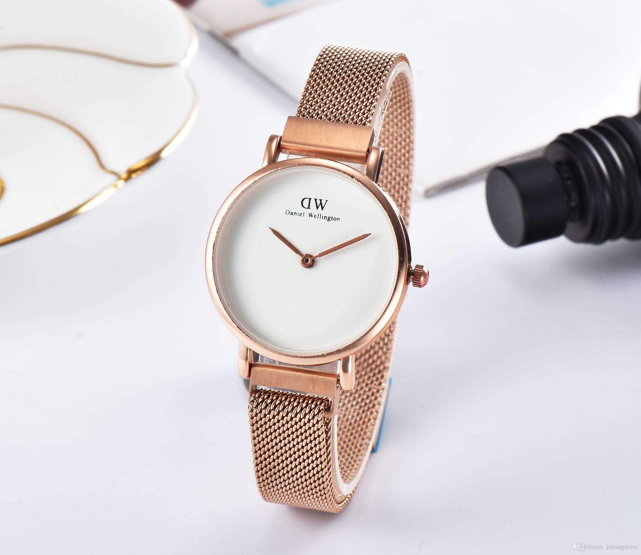 8619fce6c47 New Fashion Girls Steel Strip Daniel Wellington Watches Women Watches  Luxury Brand Quartz Watch DW Clock Relogio Feminino Montre Femme Expensive  Watches ...