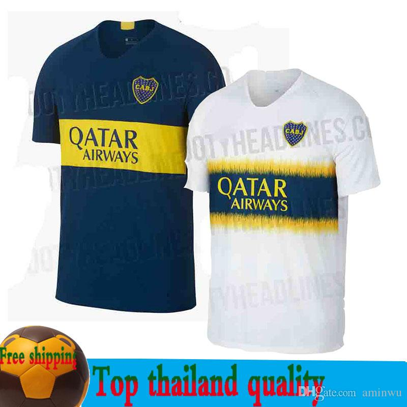 best cheap 66fa3 e84c6 2018-19 Boca Juniors Home Blue Soccer Jersey 18/19 Boca Juniors Away White  Soccer Shirt 2018 Football Uniforms Sales