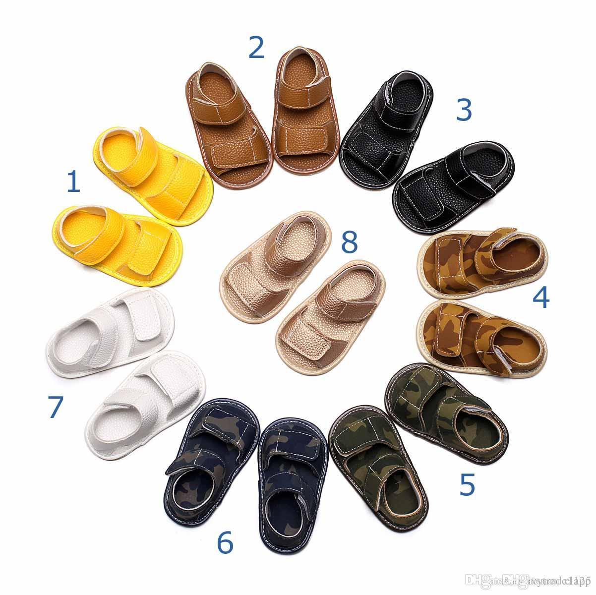 Primeros Zapatos Suave Recién De Colores Sandalia Bebé Niña Infantiles Boutique Camuflaje Niño Caminantes 9 Llegados WEY29DHIe