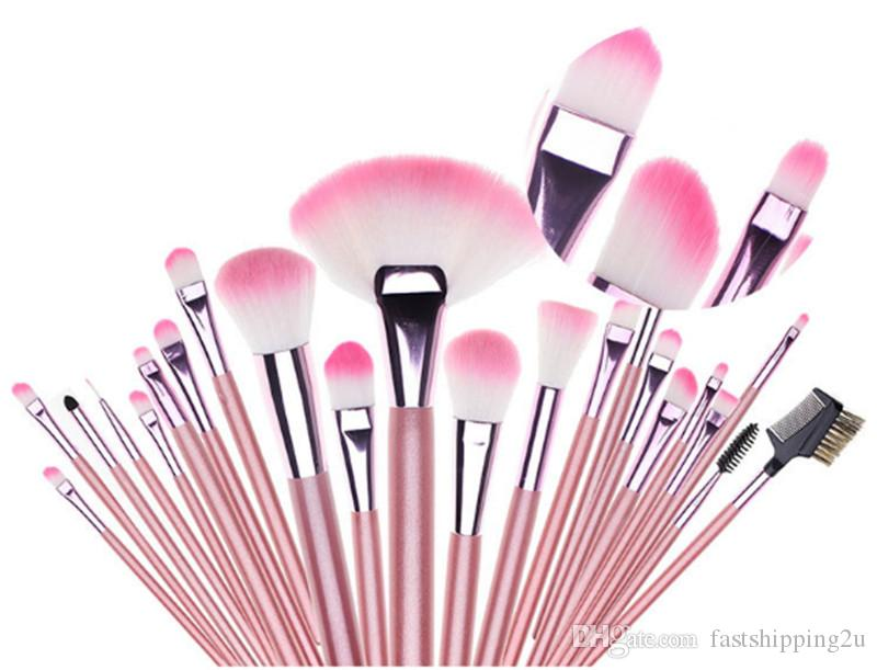 Hot New Makeup brushes makeup brush Professional Brush sets Goat hair Pink DHL shipping