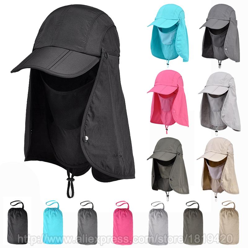 3e7bc24948f Outdoor Fishing Hiking Bucket Hats for Men Women Removable Foldable ...