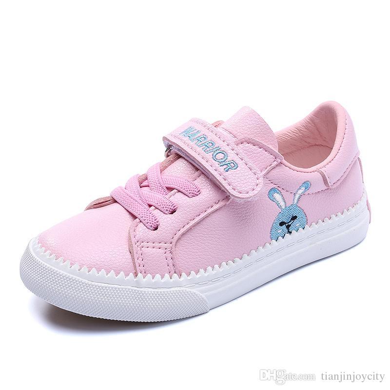 01c451ae1eef1 Compre Zapatos De Niñas Zapatillas De Deporte Para Niños Casual Zapatillas  De Tenis Para Niños Zapatos De Lona Para Niñas Conejo Lindo De Dibujos  Animados ...