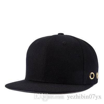 55b24f81b54 Black Blank Brand Snapback Hats for Men Women Baseball Cap Mens ...