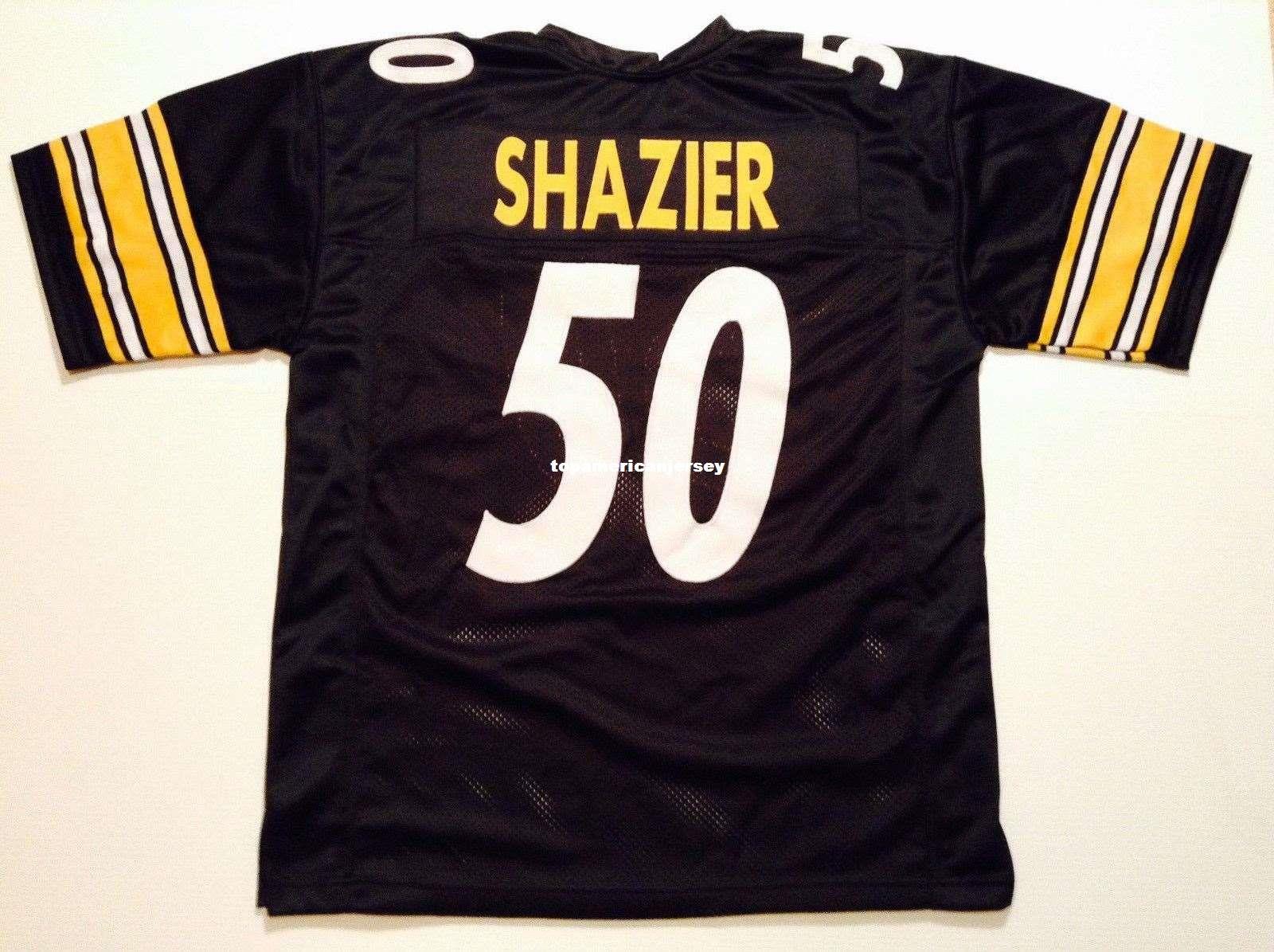 10091f879f6 Cheap Retro Custom Sewn Stitched #50 Ryan Shazier Black MITCHELL ...