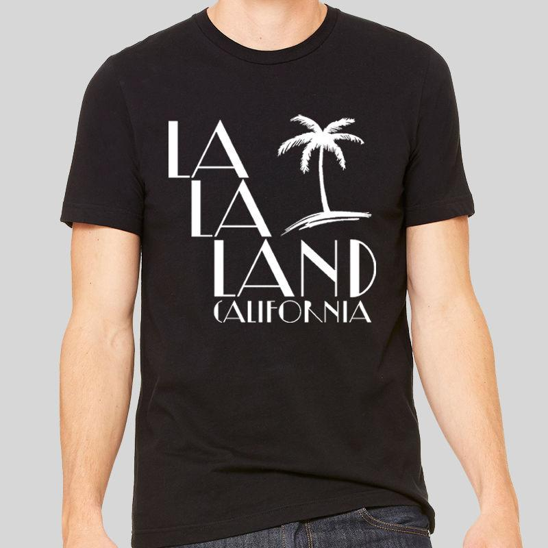 030af5ccb0 Compre 2018 Moda La La Terra Califórnia Camiseta EUA Filme De Viagem  Ensolarado Los Angeles Unisex Tee Camisa Dos Homens T De Algodão De  Impressão De Manga ...