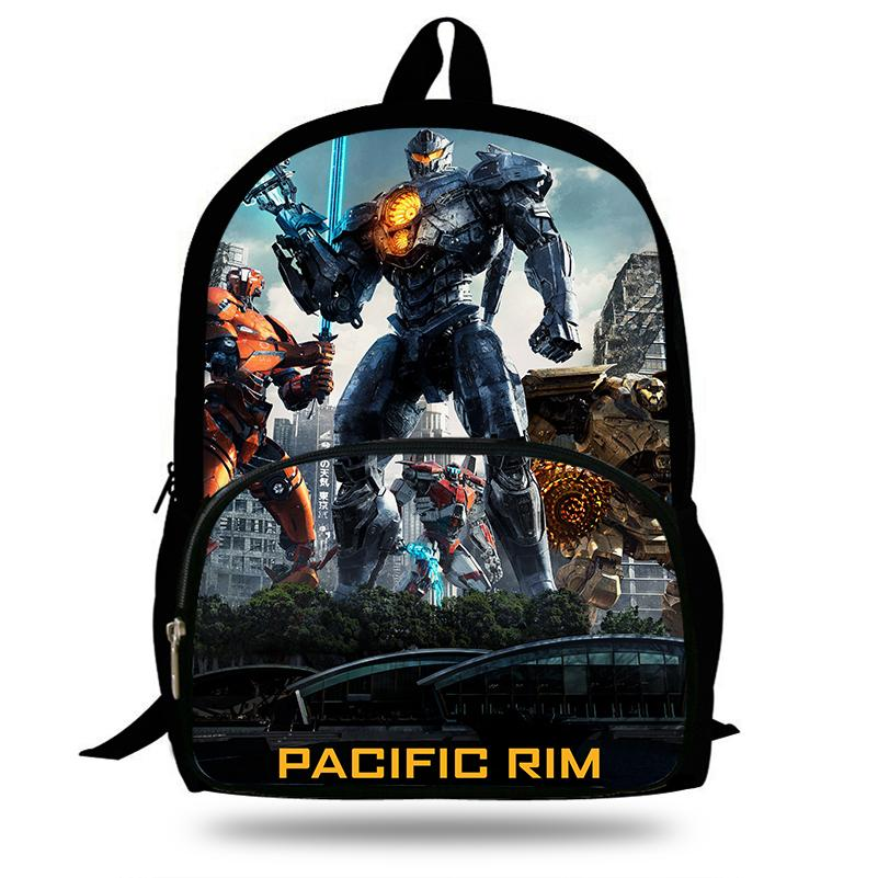 411df7d05d0c 16 Inch Mochila Pacific Rim  Uprising Movie School Bags Robot For Teenagers  Children Cartoon Bag Kids Backpack Boy Y18100805 School Backpacks Canada  Girls ...