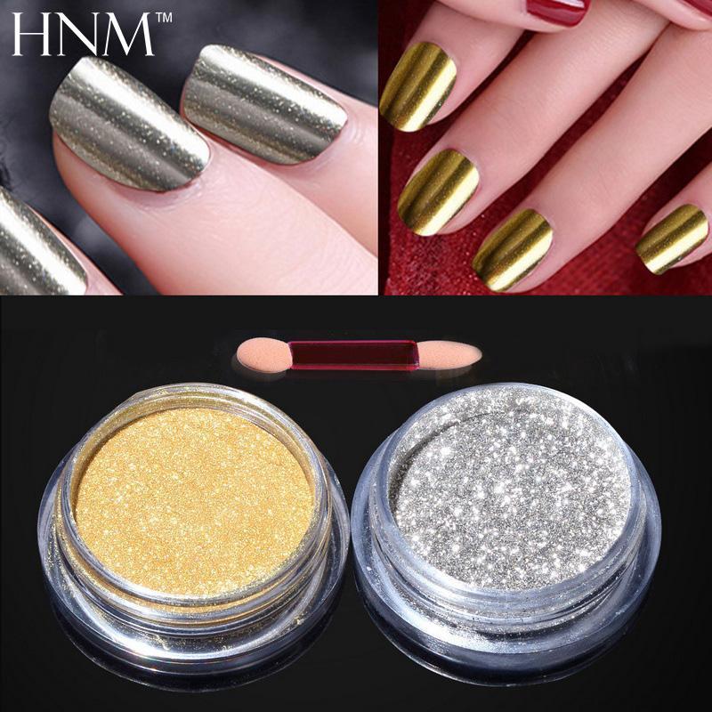 Hnm Magic Mirror Chrome Glitter Powder Metallic Nail Powder Spangles ...