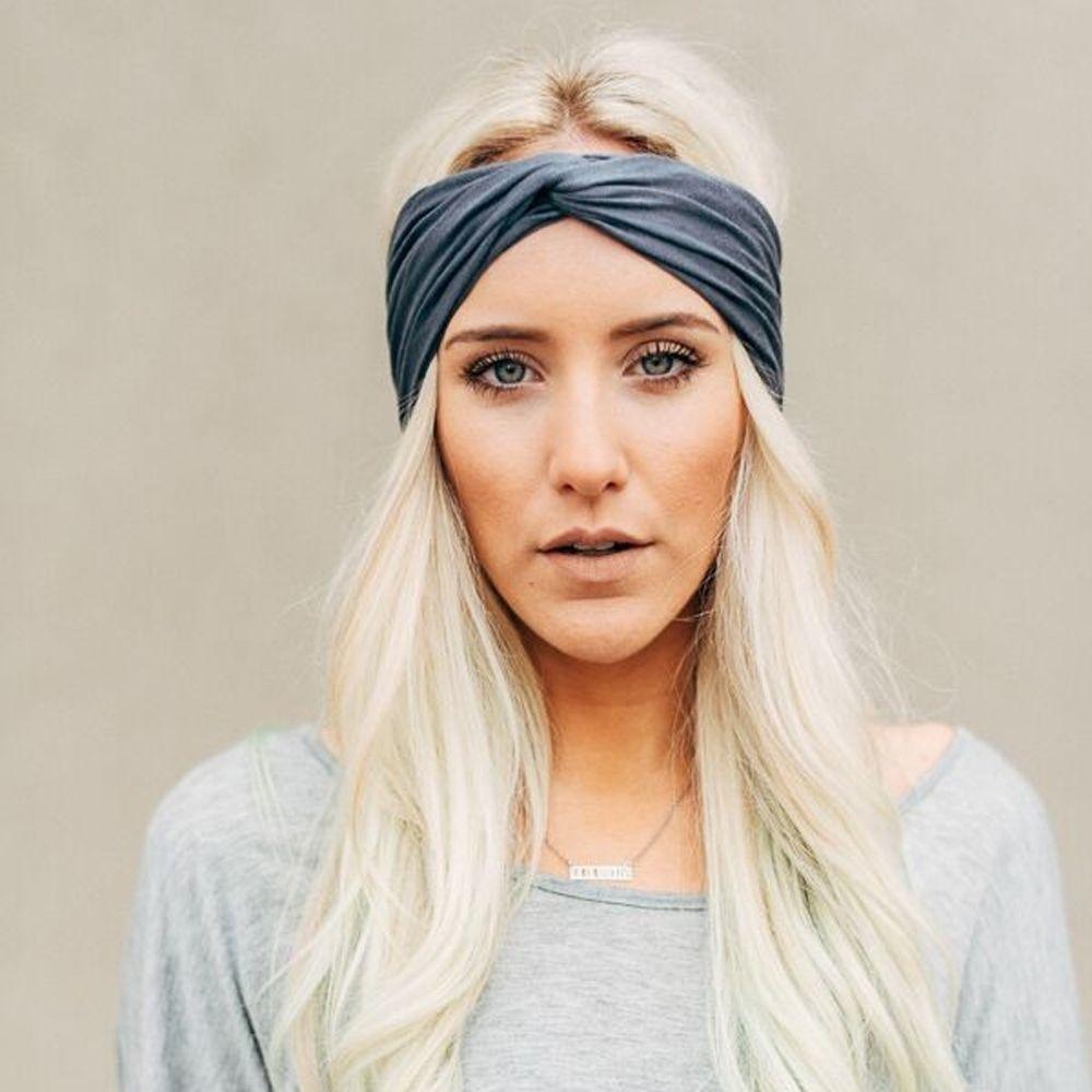 665a8707699 Fashion Women Lady Knotted Twist Hairband Cotton Yoga Elastic Headband Hair  Band Accessories Headwear Jeweled Hair Pieces Jeweled Hair Bands From  Beasy113