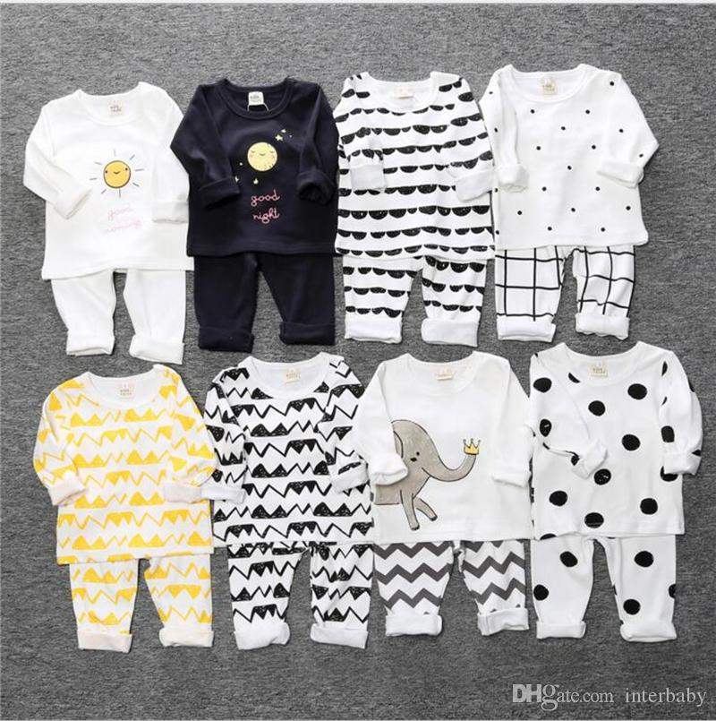 1005fa55513 2019 Kids Clothing Set Animal Dot Print Suits Baby Designer Casual Clothes  Long Sleeve T Shirt And Pants Sets Toddler Homewear Clothing Set YL417 From  ...