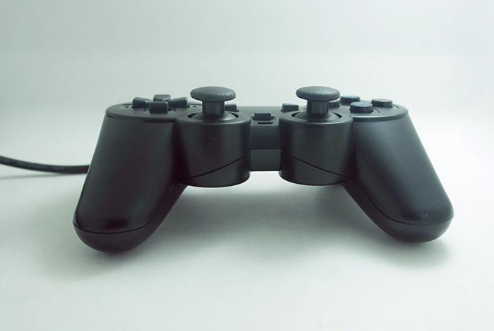 100X PS2 Için Sıcak satış Kablolu Denetleyici Çift Titreşim Joystick Gamepad Playstation 2 M-JYP Için Oyun Denetleyicisi