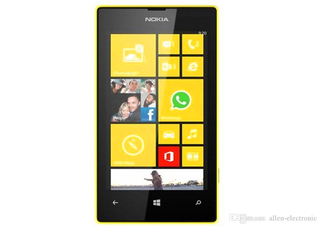 2016 Direct Selling New Arrival Wholesale Original Refurbished for Nokia Lumia 520 Mobile Cell Phone Unlocked Gsm Cellphone free Dhl