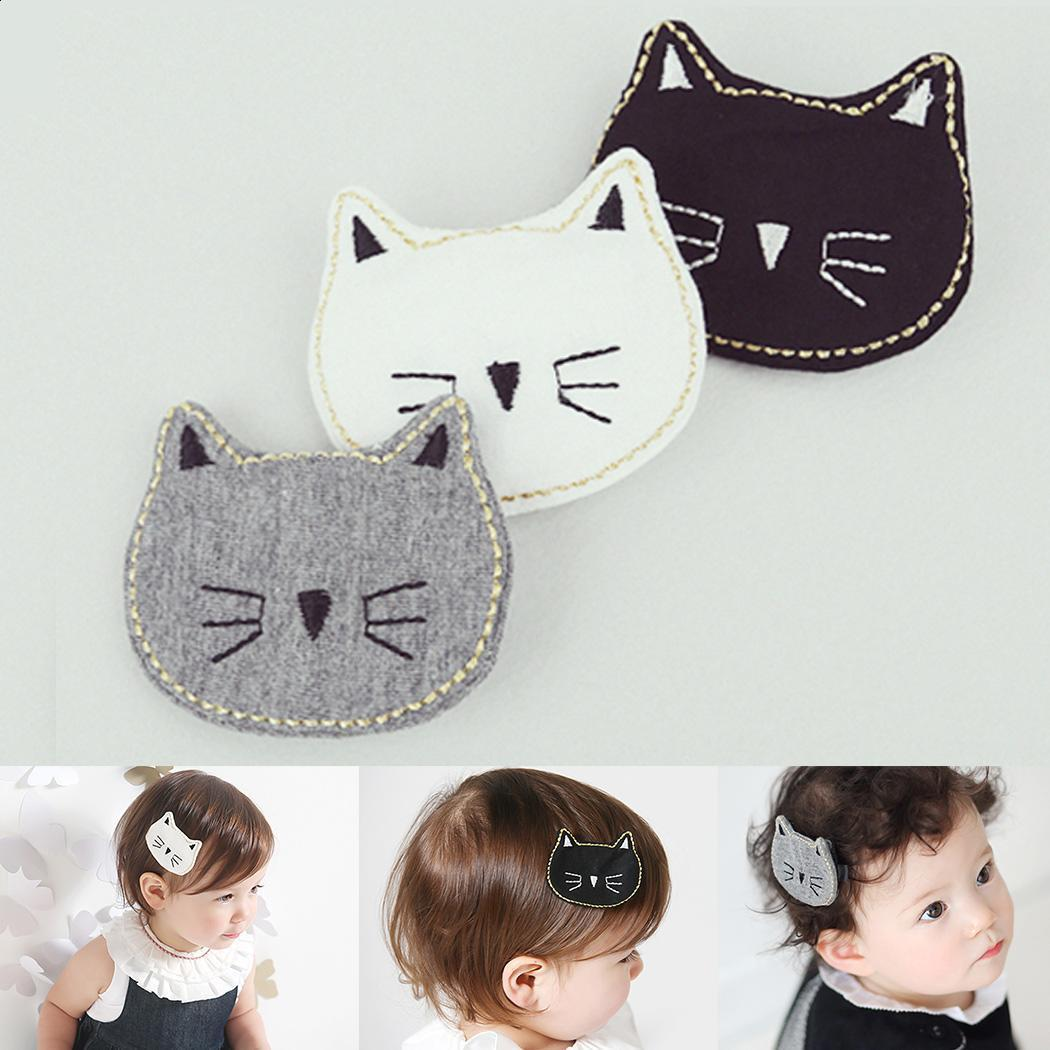Compre Cat Girls Cute Animal Baby Face Patrón Clip Lateral Para El ...