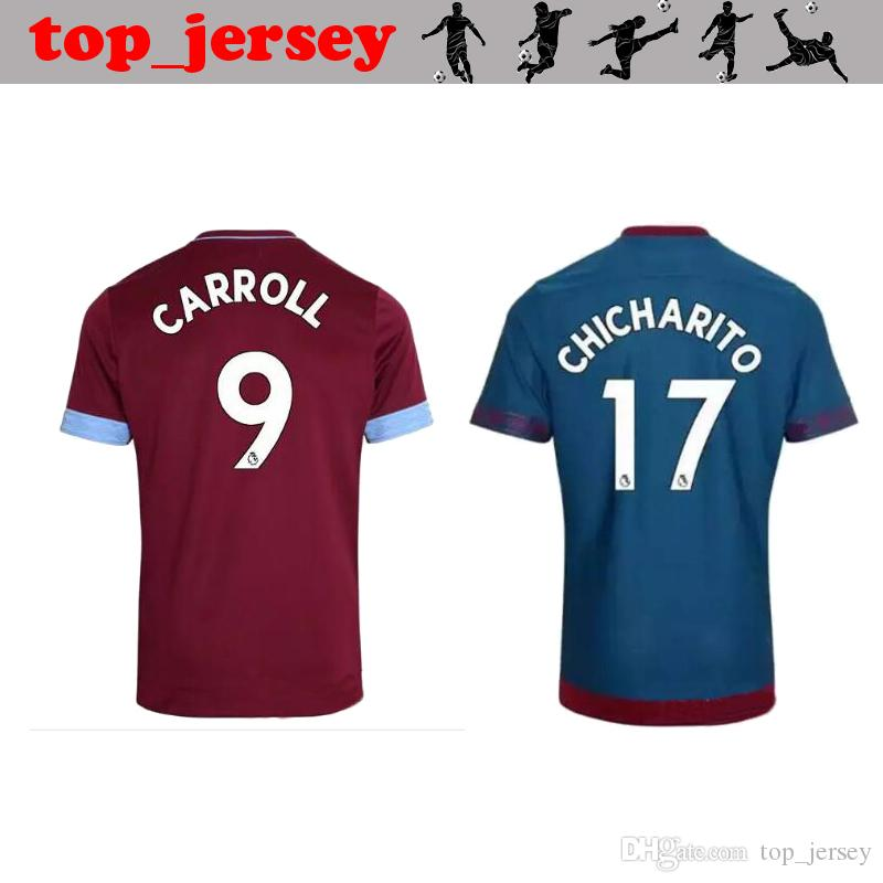 New West Ham United Jersey De Fútbol 18 19 Chicharito Arnautovic Lanzini  Snodgrass Noble Carroll Calidad Tailandesa Home Away Camiseta De Fútbol  2019 Por ... b9bbe37a70e1f
