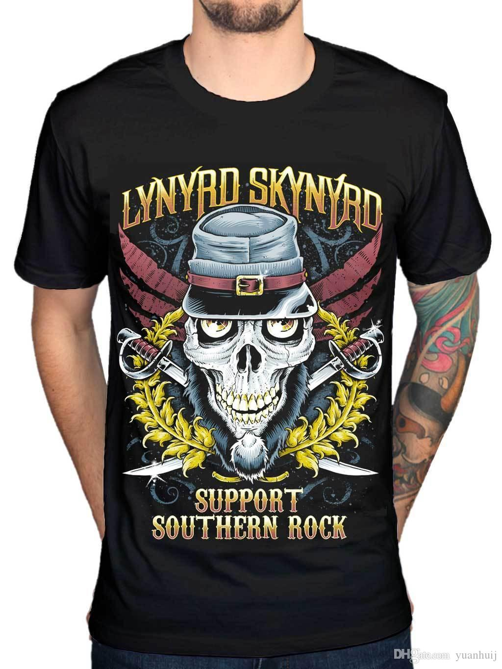 e81f6c67 Official Lynyrd Skynyrd Support Southern Rock T Shirt Van Zant Buy Tshirts  The Who T Shirts From Tee4uever, $10.67| DHgate.Com