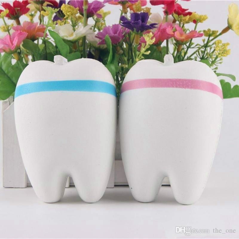 Antistress Cartoon Tooth  Slow Rising Trick Soft Squeeze Tooth Toys