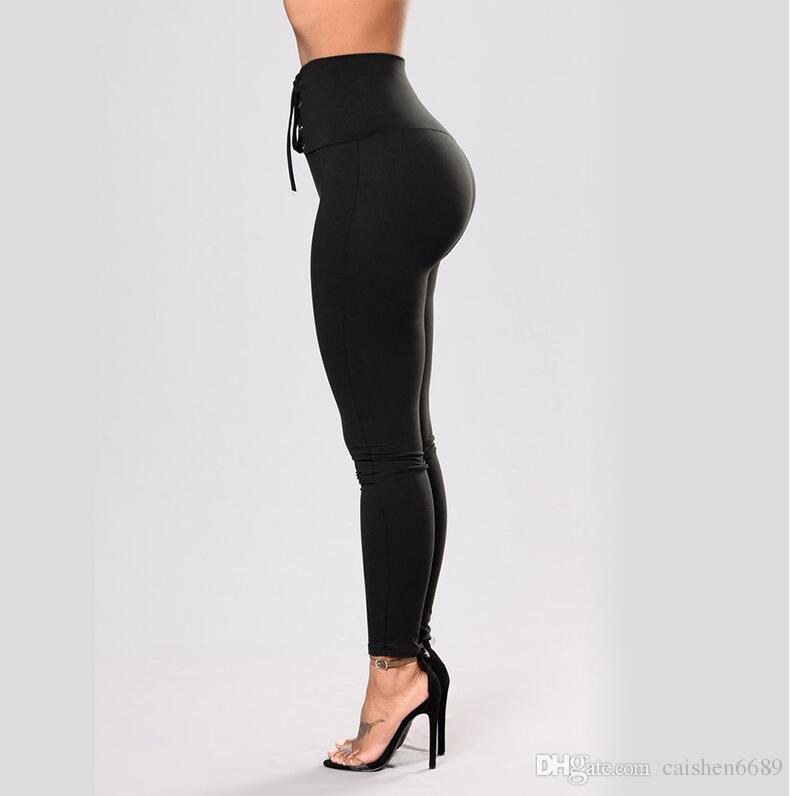 Новый 2018 женщин высокой талией бандаж Спорт сжатия леггинсы эластичные лоскутные брюки для бега тренажерный зал фитнес сухой быстрая тренировка брюки