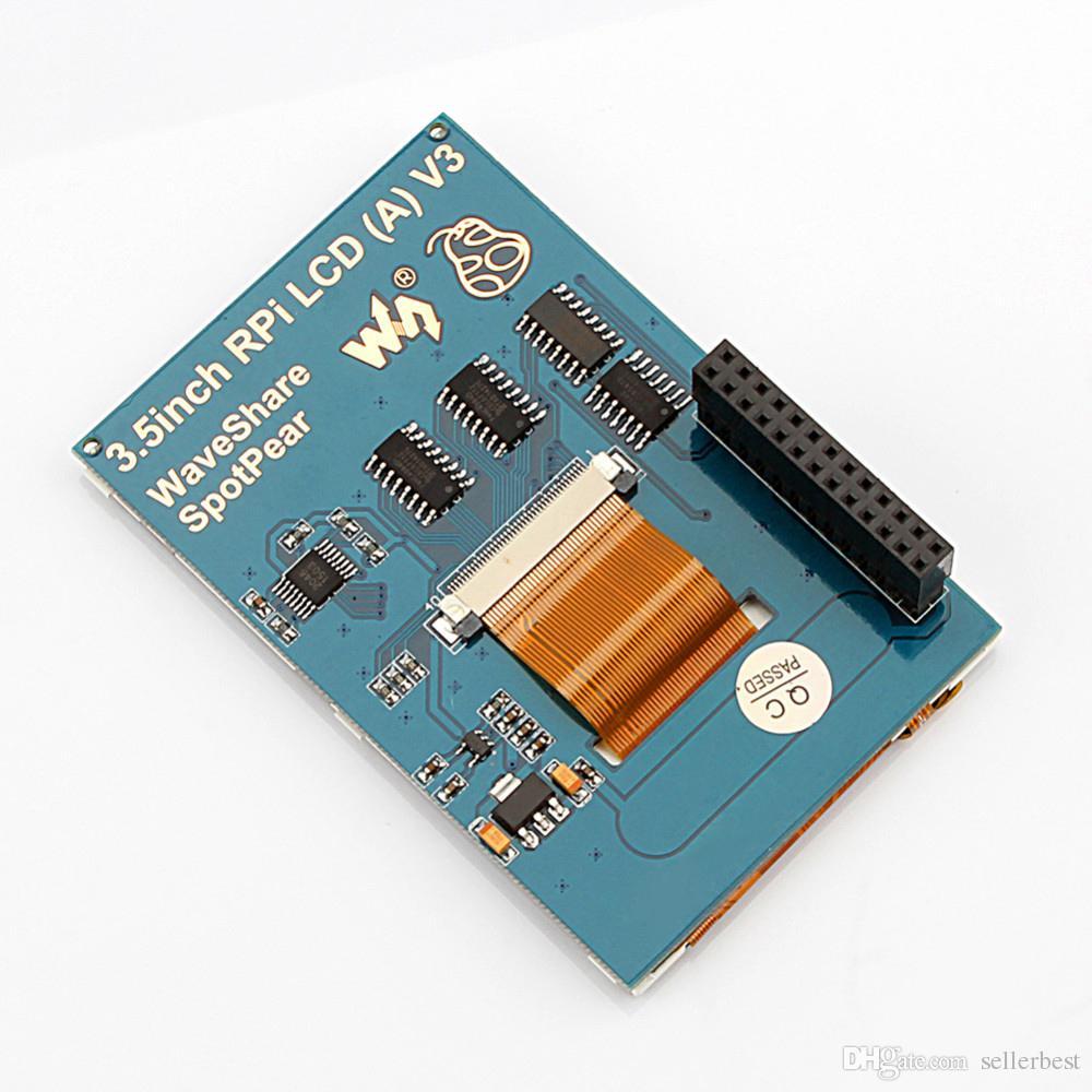 Monitor TFT LCD da tela de toque de 3,5 polegadas para os dissipadores de calor do caso do PI 3 da framboesa