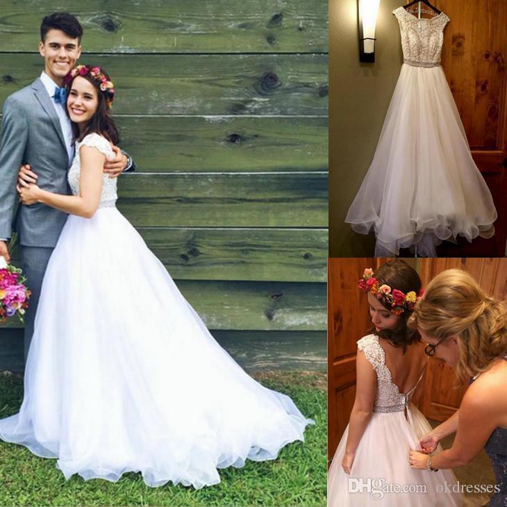 0d7ee4c89f3 Cheap Mid Calf Wedding Dresses Sleeves Discount Satin Empire Waist Wedding  Dress