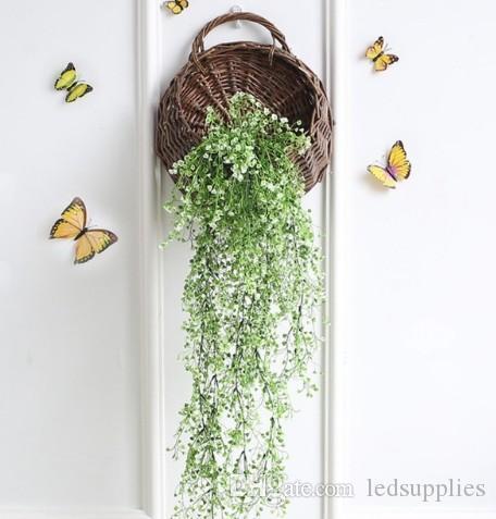 조명 해군 꽃 LED 벽 바구니 꽃 시뮬레이션 공장 벽 장식 인공 반딧불 램프 꽃