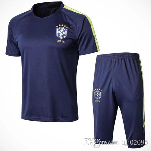 2018 World Cup High Quality Brazilian Football Sportswear Short ... b1dc26e70