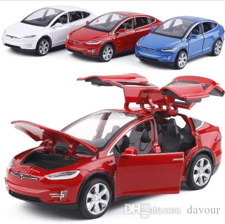 2019 1:32 Alloy Car Model Tesla MODEL X Metal Diecast Toy Vehicles Car With Pull Back Flashing Musical For Baby Gifts From Davour, $27.14 | DHgate.Com