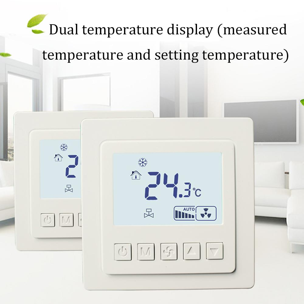 LCD Touch Screen Room Temperature Controller Thermostat Backlight Weekly Programmable Underfloor Heating Thermost LYK-608