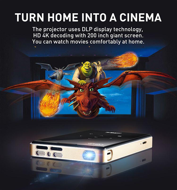 f6f45c2747f Compre Vivicine Más Nuevo P09 DLP Inalámbrico LED Mini Proyector De  Bolsillo 1G / 8G, 2G / 16G Con HDMI En Android 6.0 Digital Pocket TV  Projector A $286.1 ...