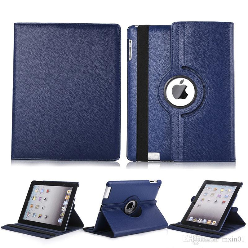 360 Rotating Flip PU Leather Stand Case For iPad 10.2 Pro 11 10.5 9.7 2018 2 3 4 5 6 Mini Samsung Tab P200 T510 T515 T720 T590 T860 T290