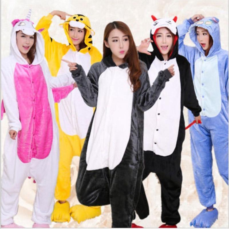 Pink Unicorn Pajamas Sets Flannel Cute Cartoon Animal Pajamas Sets Winter  Super Soft Flannel Nightie Stitch Pyjamas Sleepwear Online with   34.79 Piece on ... 6d530fa39