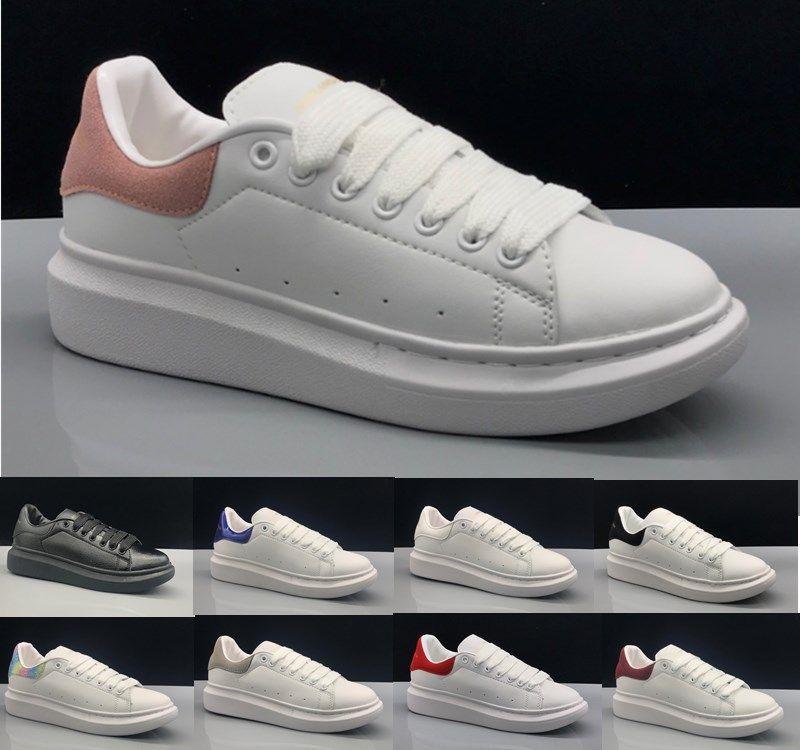 Acheter Alexander McQueen 2018 Nouveau Designer Confort Jolie Fille Femmes  Baskets Chaussures En Cuir Décontractées Hommes Femmes Baskets Extrêmement  ... 17a3b7ca062