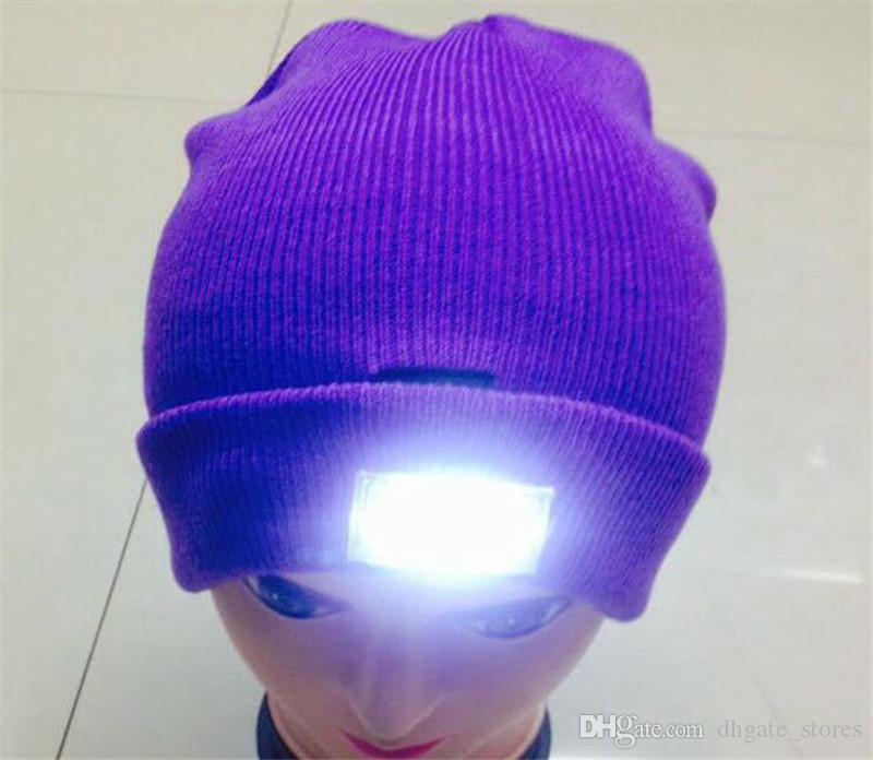 2019 LED Light Knit Beanie Caps Unisex Winter Knitted Hat Beanies Hiking  Fishing Camping Hunting Light Up Beanie Skull Caps Wholesale In Stock From  ... d0fe556290a