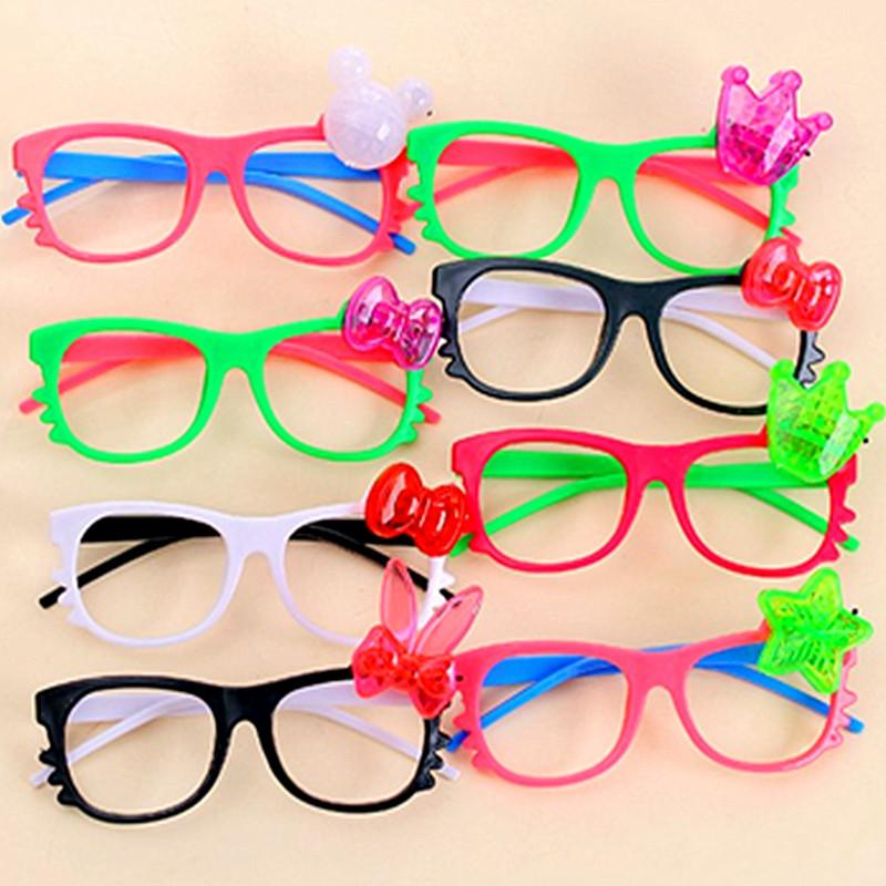 b42a6f644e8 Children LED Glasses Cartoon Flash Light Sunglasses Kids Luminous ...