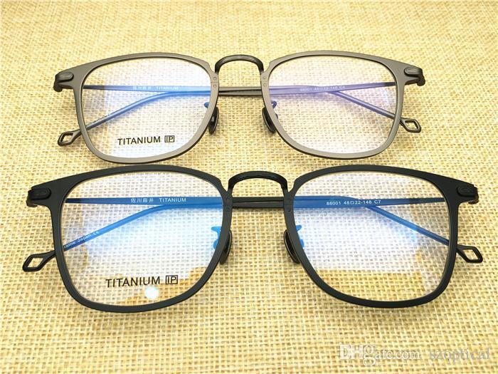 6a002031832d 2019 Cool Fashion Men Pure Titanium Square Shape Japan Desgin Top Quality Optical  Frame Spectacle Frame Optical Clear Prescription Lenses Oculos From ...