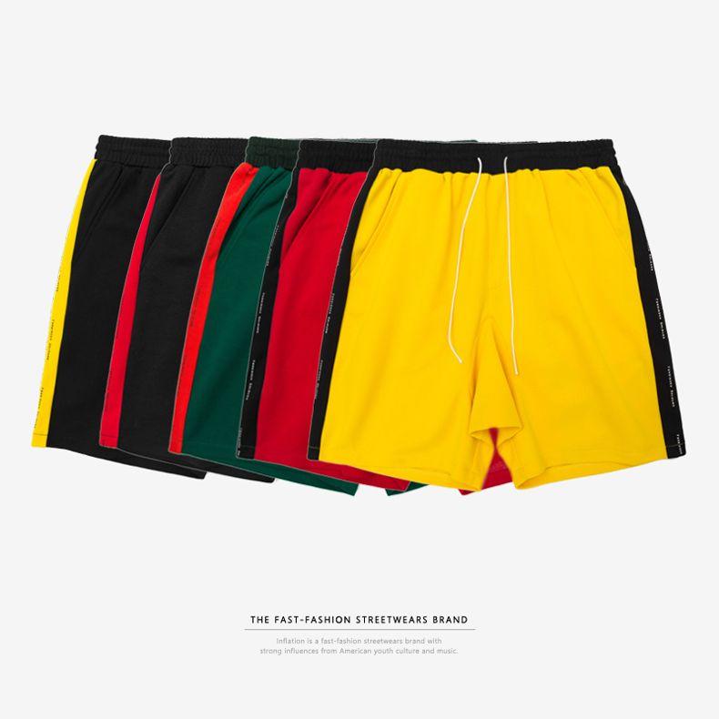 SNAP & STRAP Mens Designer Short Side Stripe Drawstring Skateboard Shorts Bieber Style Mens Streetwear Fashion Clothing Relaxed Sweatpants