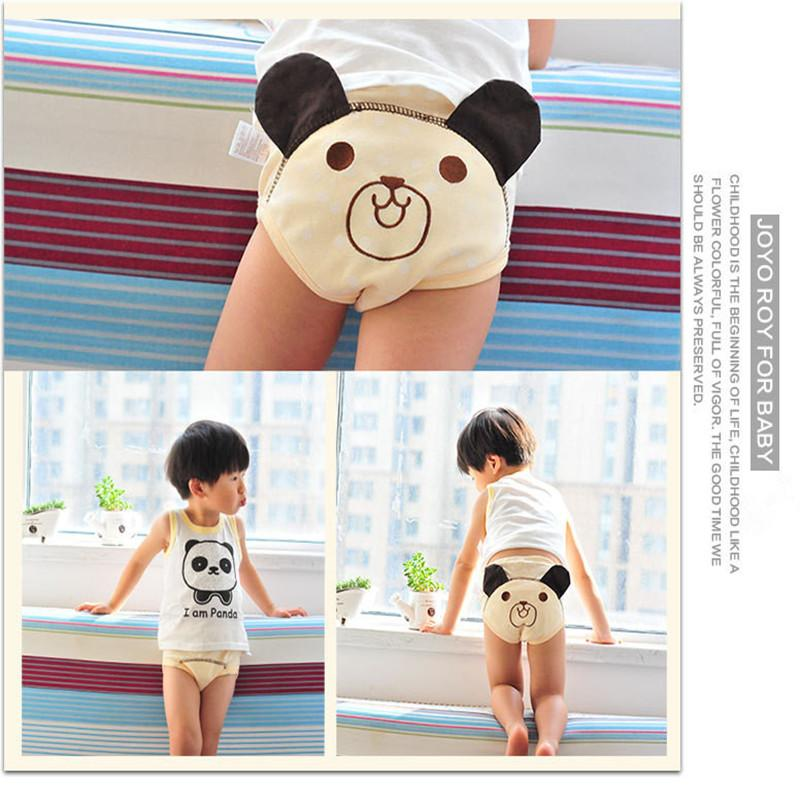 Cartoon Baby Cloth Diapers Infant Potty Training Pants Boys Girls Reusable Cotton 4 Layers Baby Nappy Panties Waterproof