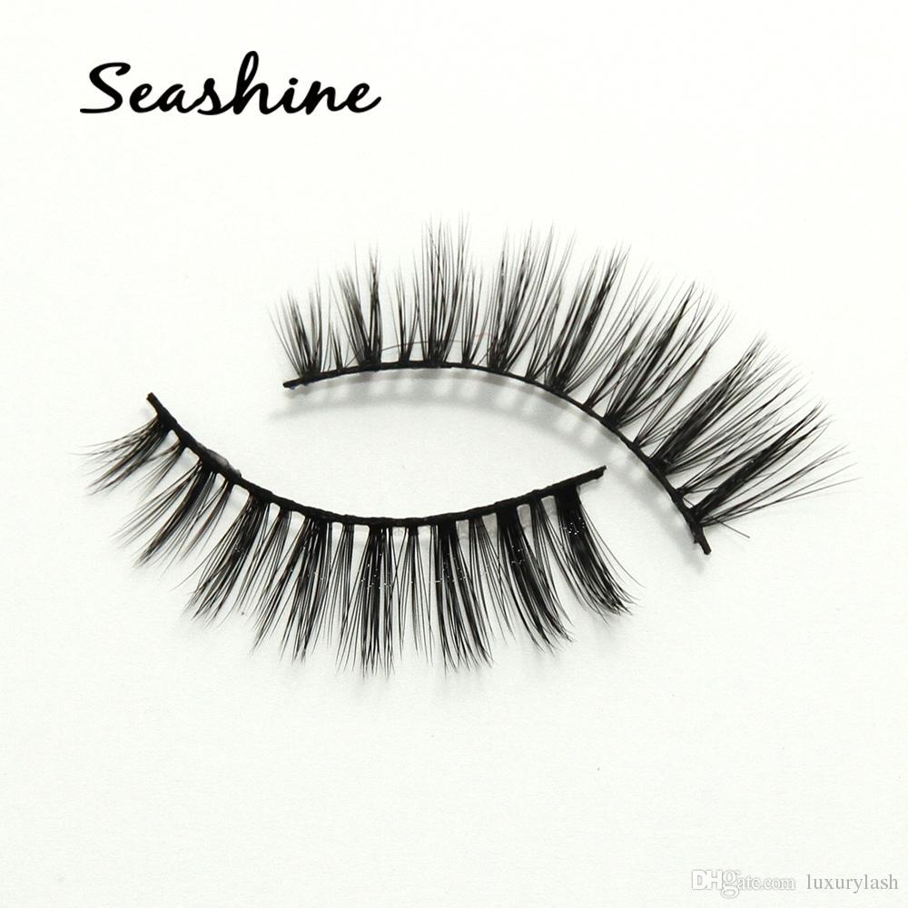 e4f7a7261d6 Seashine Fake Synthetic Strip Eyelashes Thick 3D Mink Eyelashes ...