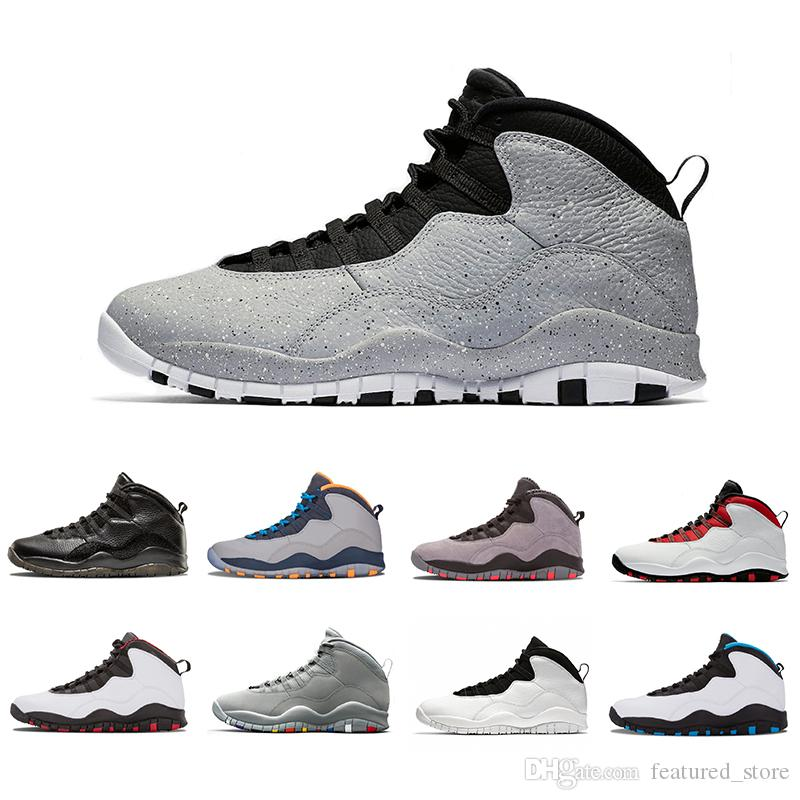 526fc2bc7d93 Newest 10 10s Mens Basketball Shoes Westbrook New Cement I M Back Bobcats  Chicago Cool Grey Powder Blue Steel Grey Black Men Sports Sneakers Mens  Shoes ...