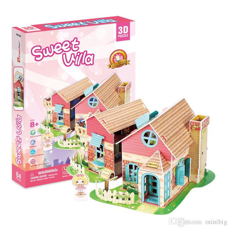 Superior Marvelous Großhandel Cubicfun Süße Villa 3d Puzzle Schaum Papier Puzzle  Pädagogisches Spielzeug Montage Gebäude Modell Geschenke