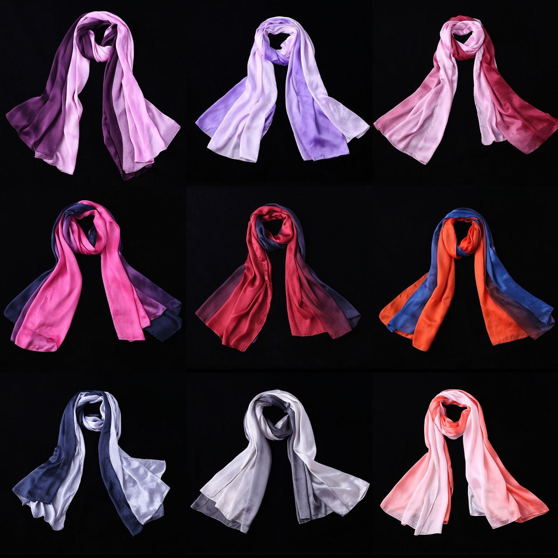 180cm Artificial Silk Gra nt Designer Scarf Women Hijab Shawls Pashmina Wrap Scarf Table Blanket Beach Towel Head Scarf Infinity Scarves From Ficoco