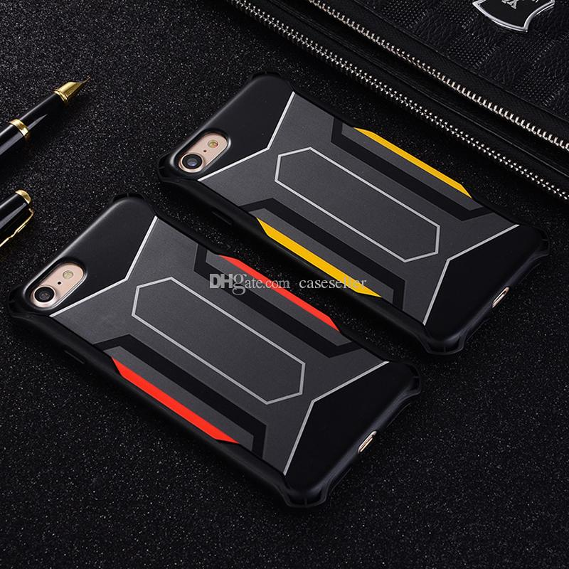 Creativity hybrid TPU +pc Protective Shockproof Drop Resistance Defend back Cover case for iphone X 8G 7G 6G 6S PLUS