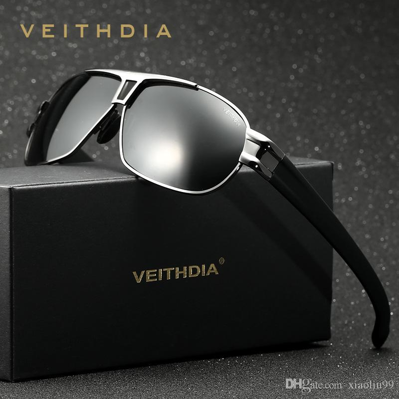 52094cac39 VEITHDIA Aluminum Magnesium Polarized Men S Sunglasses Square Vintage Male  Sun Glasses Coating Film Eyewear Accessories Oculos For Men 8561 Sunglasses  For ...
