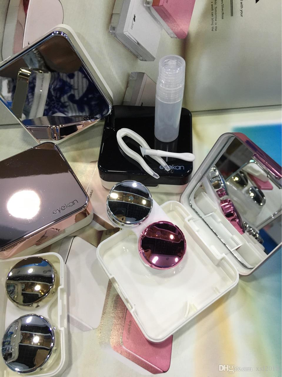 Высококачественная коробка контактных линз с различными цветами, включенными в пять видов гаджетов, чтобы выбрать уход за контактными линзами