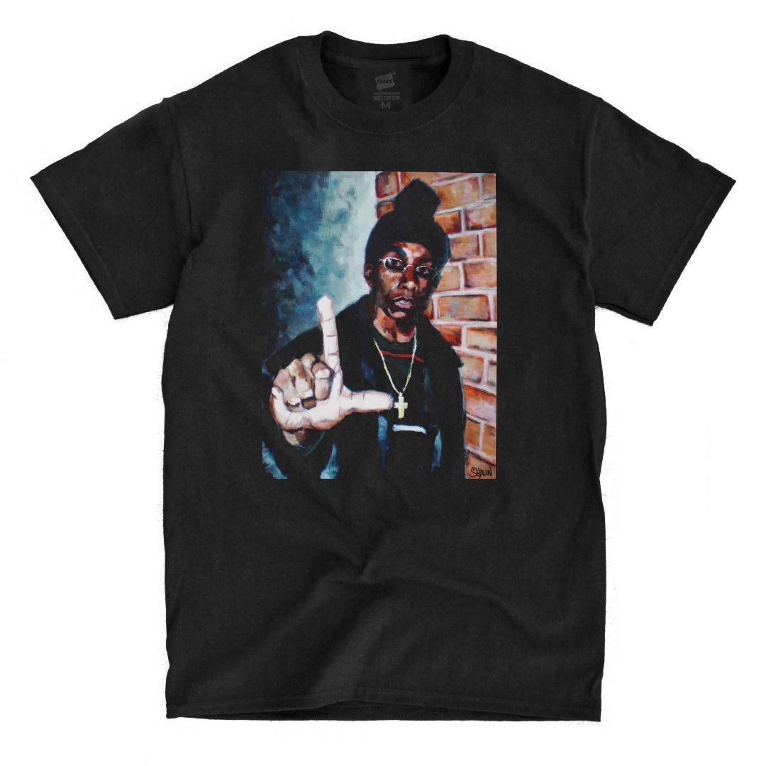 d60c573b Big L - Painting - Black T-Shirt Hip Hop Clothing Cotton Short Sleeve T  Shirt Top Tee Men'S O-Neck Printed Tee Shirt Top Tee