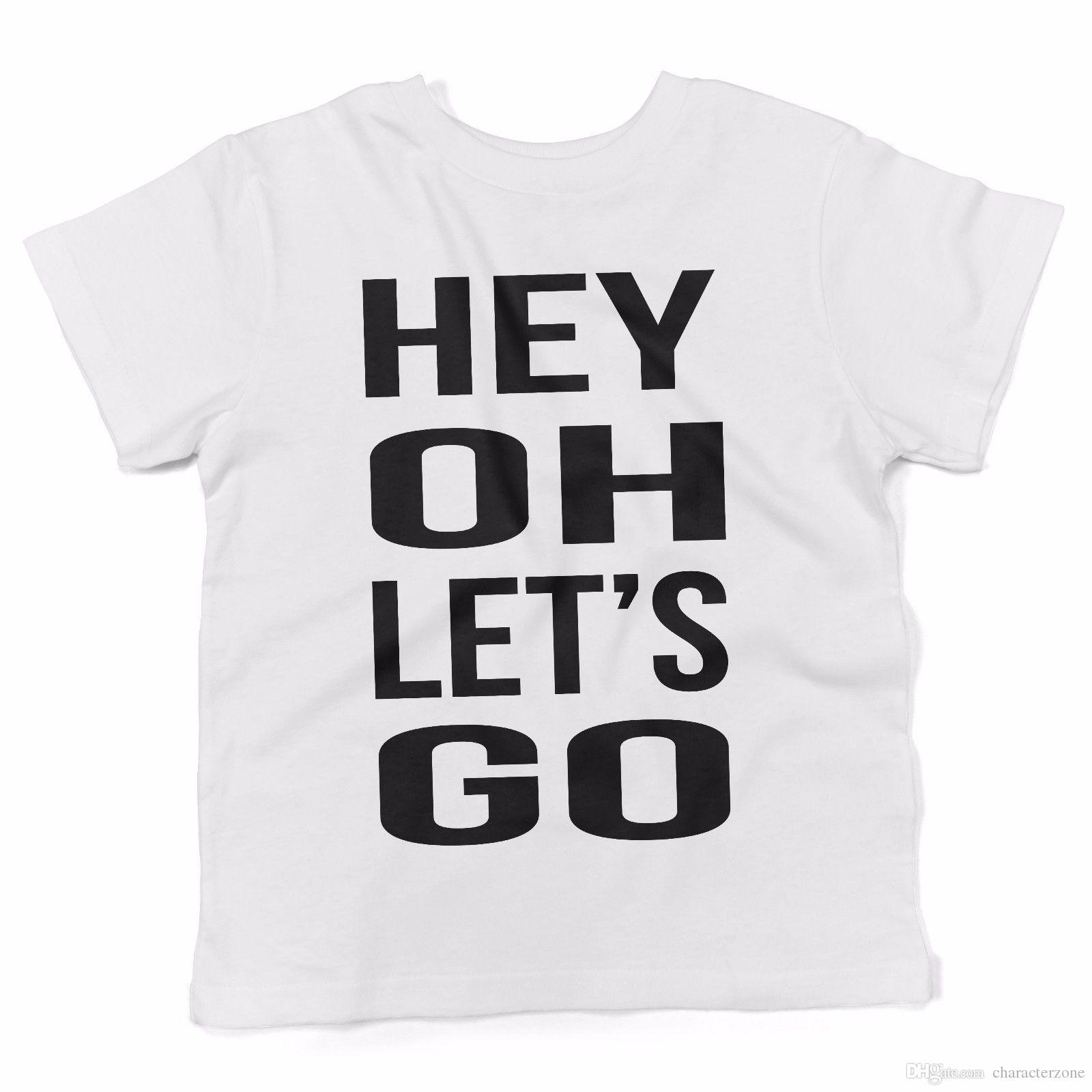 Baby T Shirt Hey Oh Lets Go Maglietta Abbigliamento Neonato Bianco