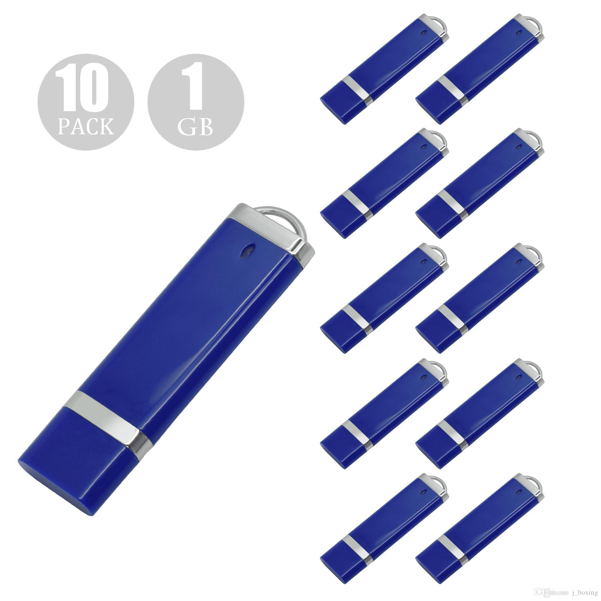 10PCS Blue Lighter Model USB 2.0 Flash Drives Pen Drives USB Memory Stick 64M 128M 256M 512M 1G 2G 4G 8G 16G 32G for PC Laptop Thumb Storage