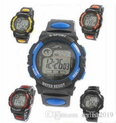 Children's Watches Responsible Hot Waterproof Children Watch Boys Girls Led Digital Sports Watches Plastic Kids Alarm Date Casual Watch Select Gift For Kid
