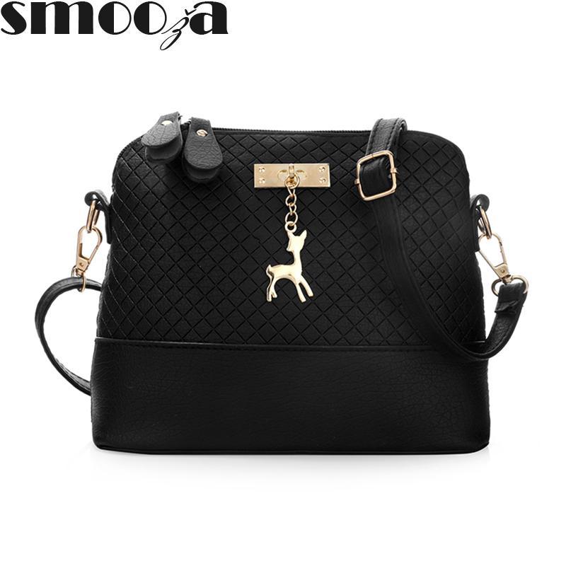 21e9e9a4ef29 SMOOZA Deer Shell Women Bag HOT SALE 2018 Women Messenger Bags Fashion Lady  Crossbody Mini Bag Women Shoulder Bags Drop Shipping Man Bags Crossbody  Purses ...